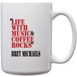 Life with Music and Coffee Rocks Mug