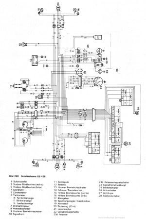 Schaltplan Stromlaufplan SUZUKI GS 550 SUZUKI GS 750 SUZUKI GS 850