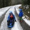 Sledding at Deer Creek