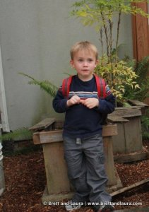Ethan's First Day of Preschool