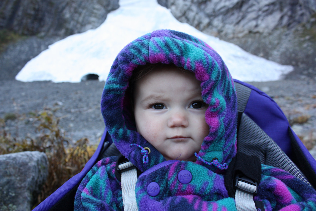 Autumn hanging out at the Big Four Ice Caves