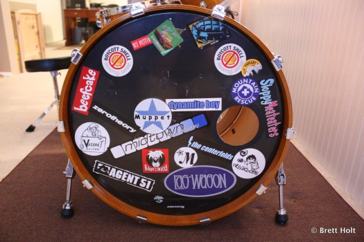 Brett's front drumhead