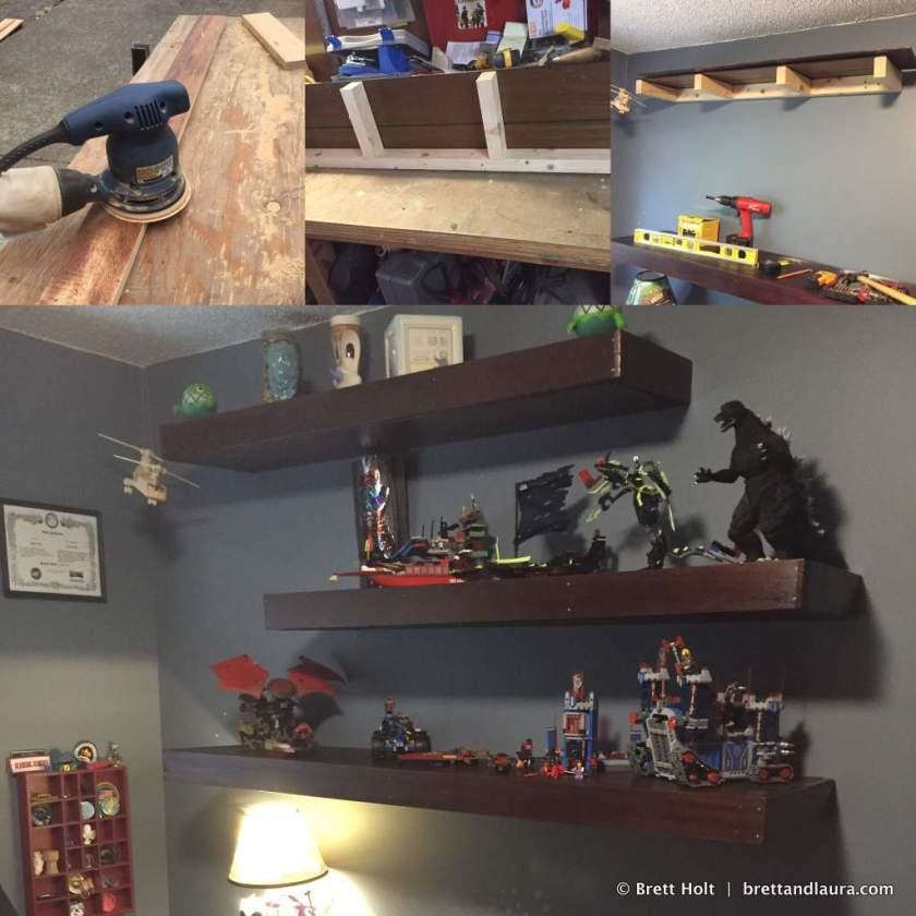 Built some shelves in Ethan's room