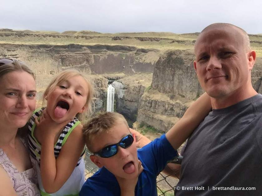 Palouse Falls. Kids are normal.