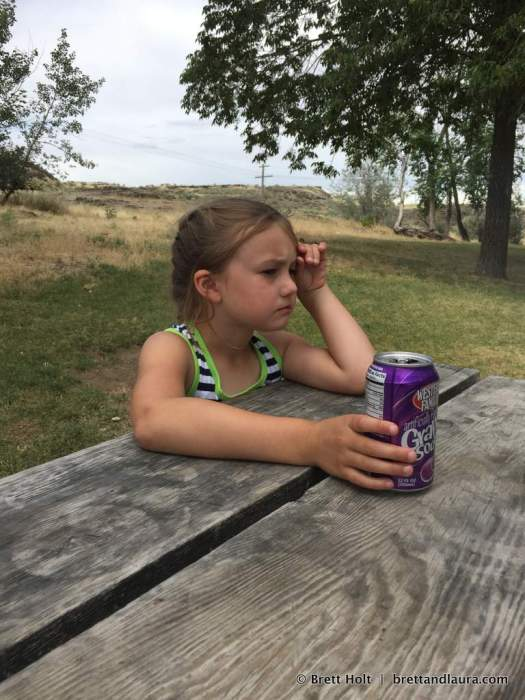 Tough day. Grape soda helps.