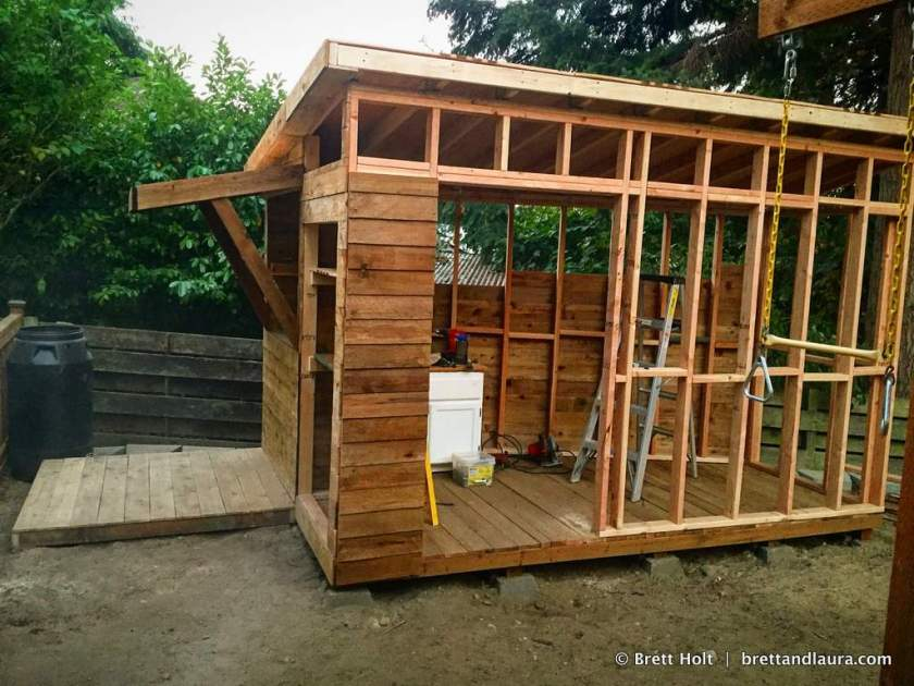 The shed slowly goes up