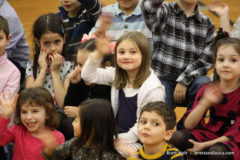 Autumn waves during a school concert