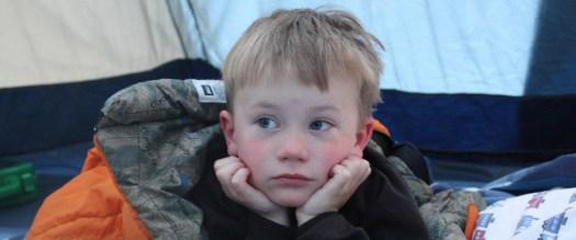 ethan in his sleeping bag