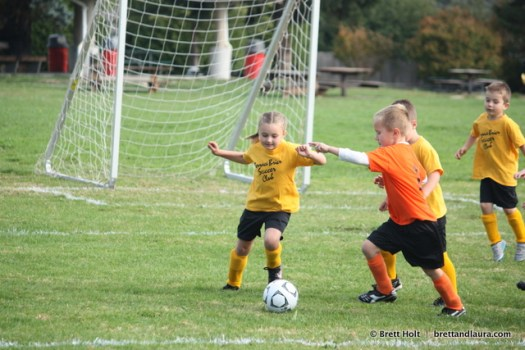 Autumn's goes for the ball!