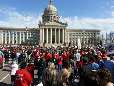 rally, education, Oklahoma, capitol