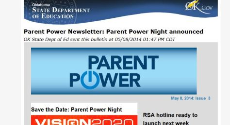 Parent Power from SDE Site