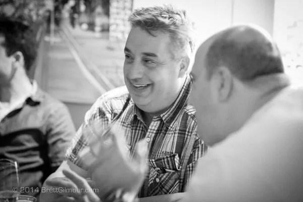 Photo of Italian men talking