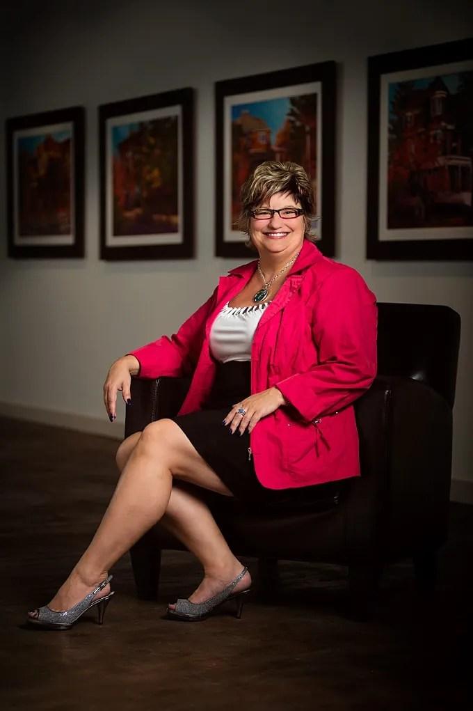 personal branding portrait of Sylvia Groves in Calgary by Brett Gilmour