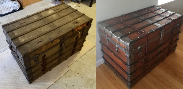 antique trunks refinished by our customers