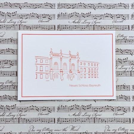 Bayreuth Buchhandlung Breuer und Sohn Postkarte Neues Schloss