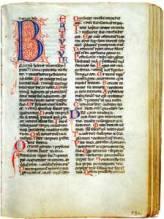 Pagina di breviario medievale