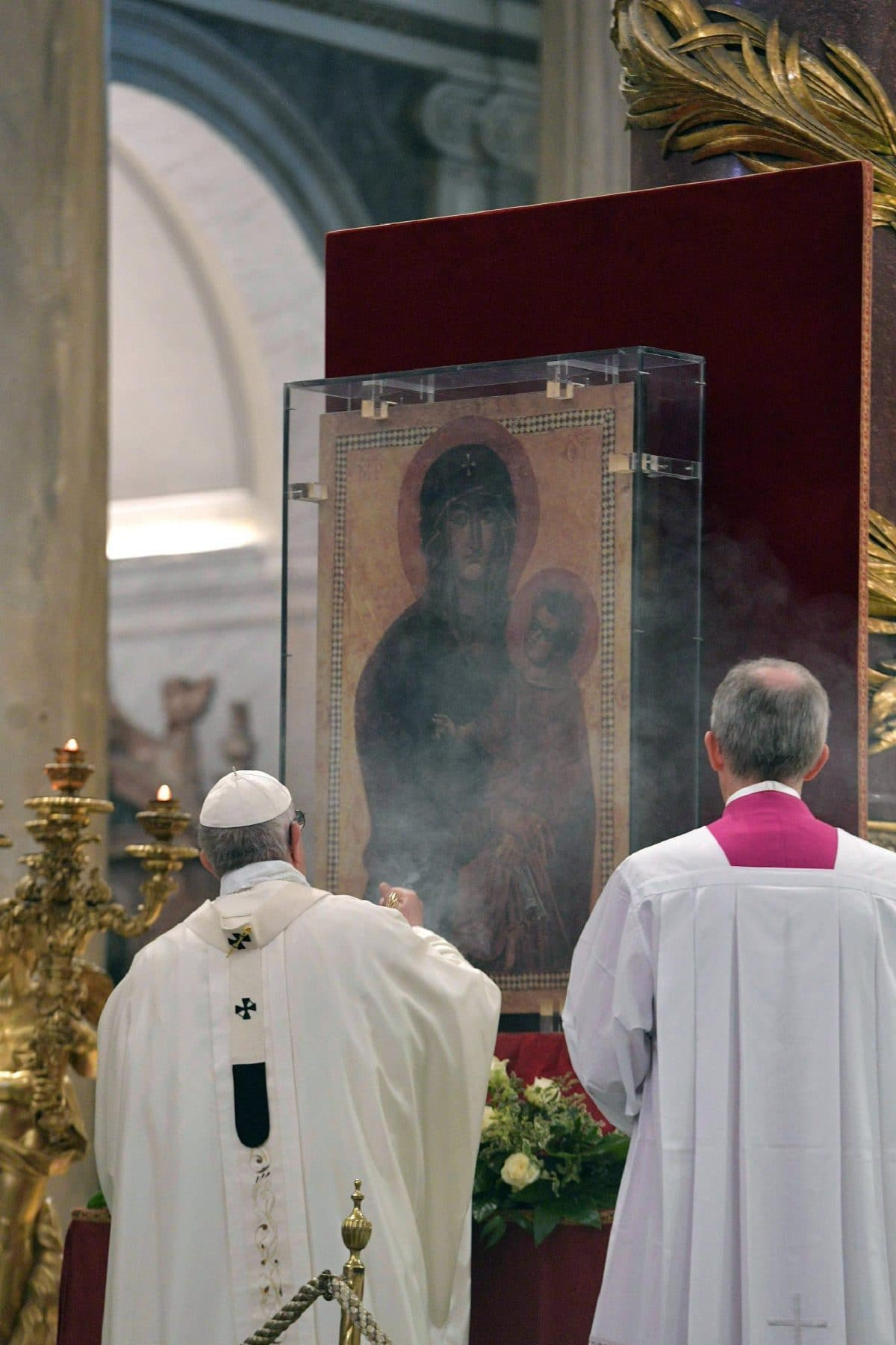 Pope Francis at a mass celebrating Centenary of the Congregation for Oriental Churches