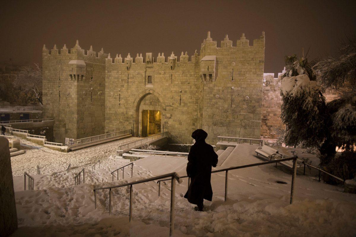 Snow in Old City of Jerusalem
