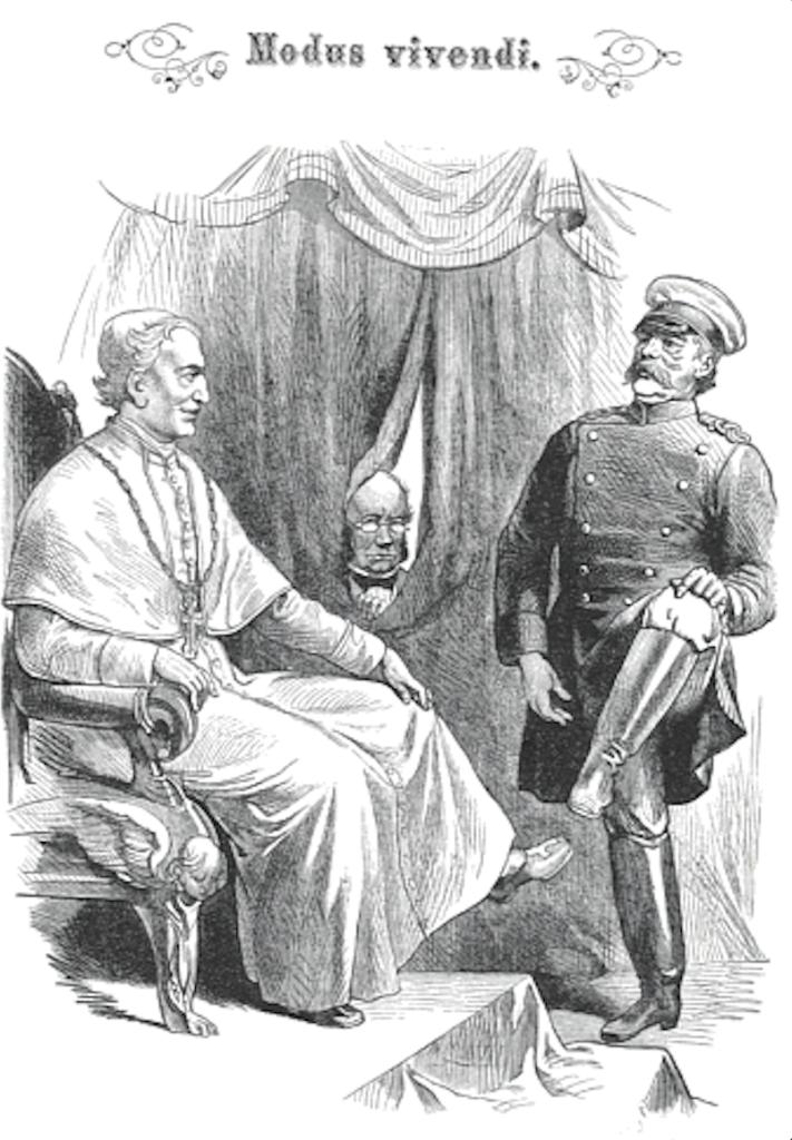 Bismarck e Leone XIII sul Kladderadatsch del 31 marzo 1878