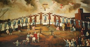 Crucifixion of st. Paul Miki and Companions, February 6th, 1597