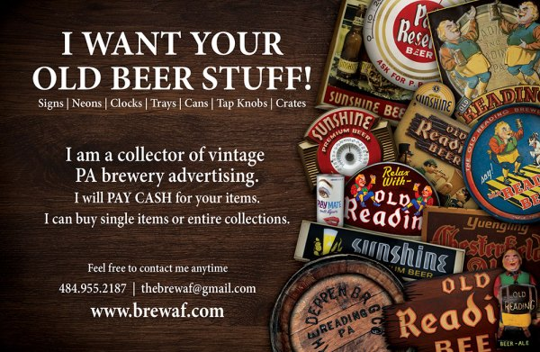 I WANT YOUR OLD BEER STUFF!