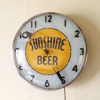 sunshine beer clock