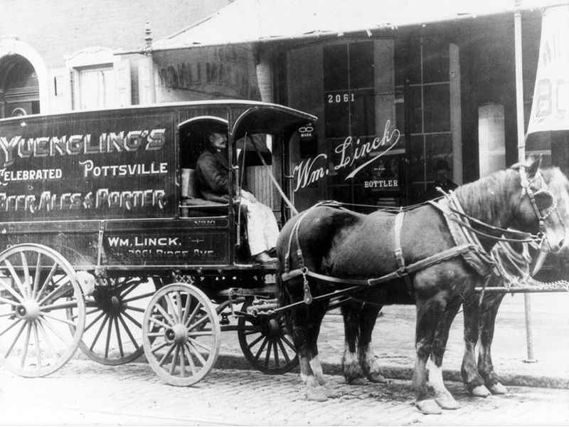 Yuengling Horse Drawn Delivery Wagon