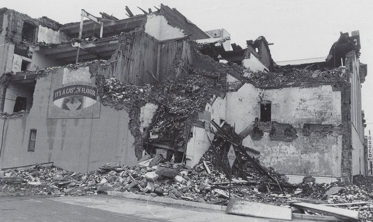Demolition of the Horlacher Brewery
