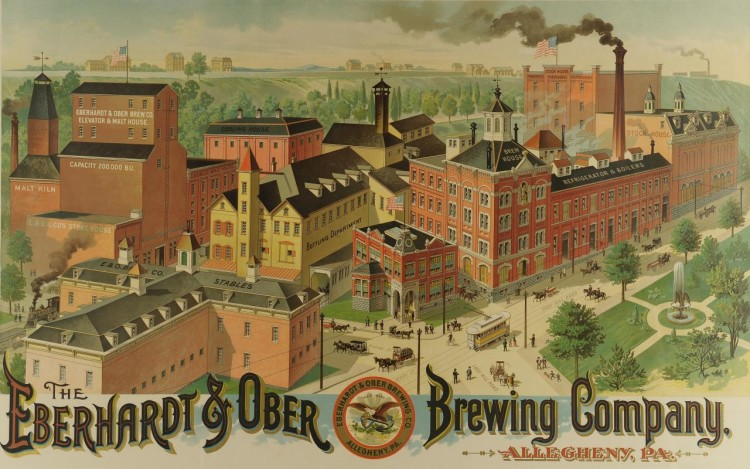 Eberhardt & Ober Brewing Company Litho