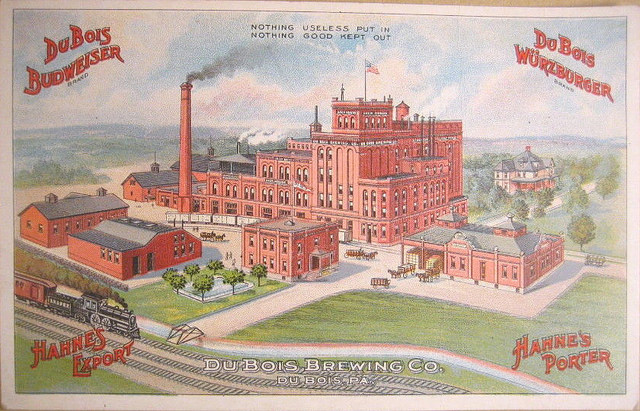 Dubois Brewing Company Factory Scene Litho