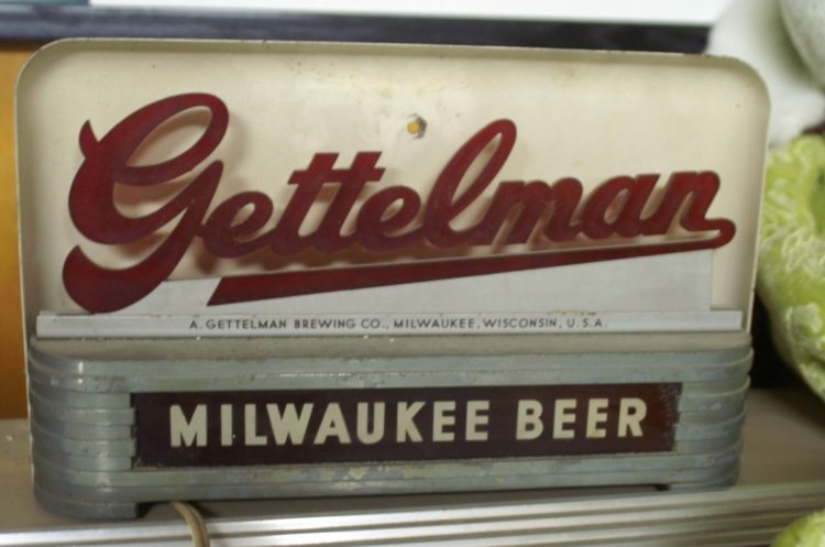 gettelman milwaukee beer price brothers inc lighted sign