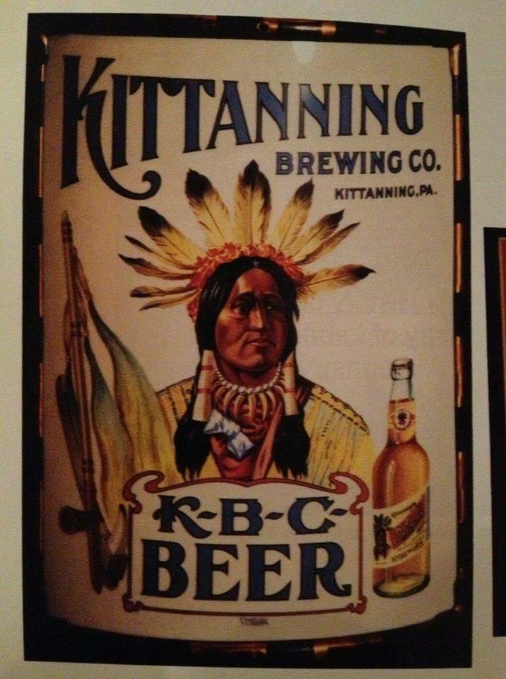 Kittanning Brewing Co. Vitrolite Sign