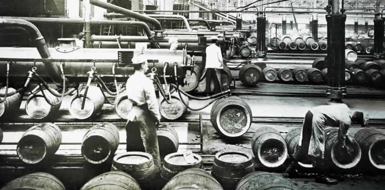 Latrobe Brewery Kegging  Workers