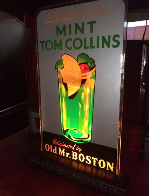 Mint Tom Collins Biolite Bubbler Sign