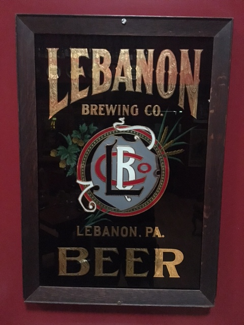 Lebanon Brewing Co. Beer Glass Sign