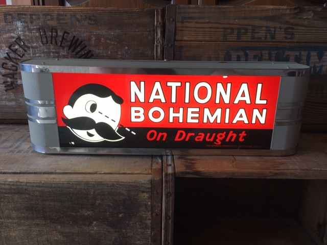 National Bohemian on Draught Box Light