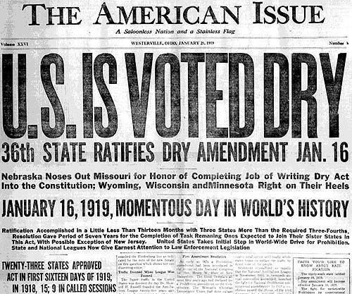 Prohibition Era Newspaper