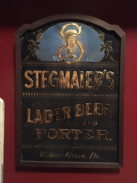 Stegmaier's Lager Beer & Porter Tin Sign