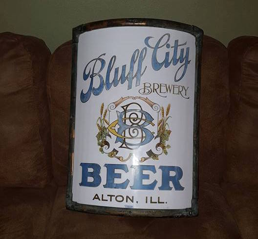 Bluff City Brewery Vitrolite Sign