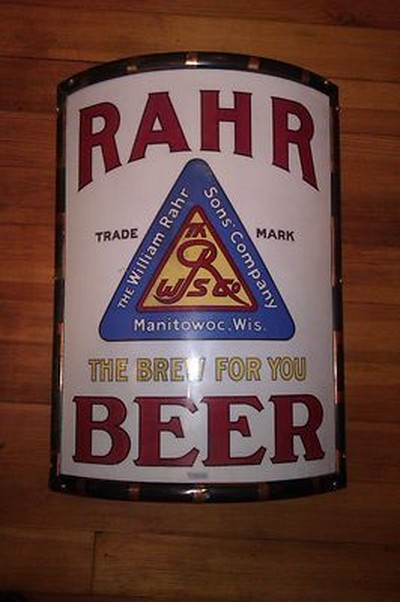 Rahr Beer Vitrolite Sign