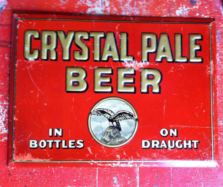 Crystal Pale Beer TOC Sign