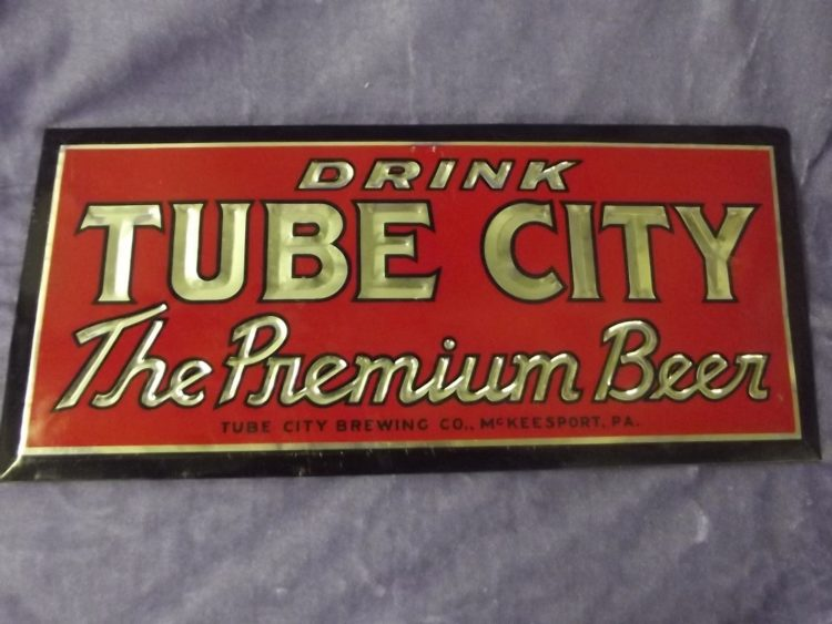 Drink Tube City Beer TOC Sign