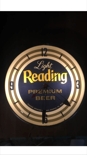 Light Reading Premium Beer PAM Clock