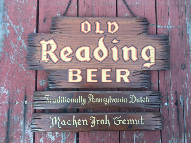 Old Reading Beer Wooden Sign