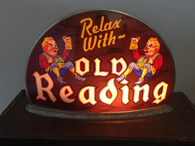 old reading beer gillco cab light sign