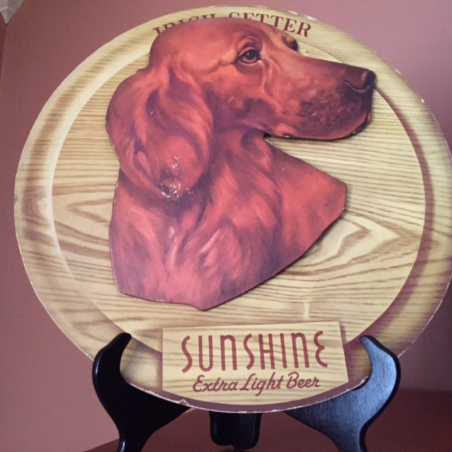 Sunshine Extra Light Beer Irish Setter Sign
