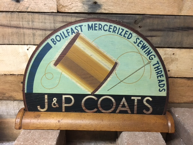 J & P Coats Gill Glass Sign