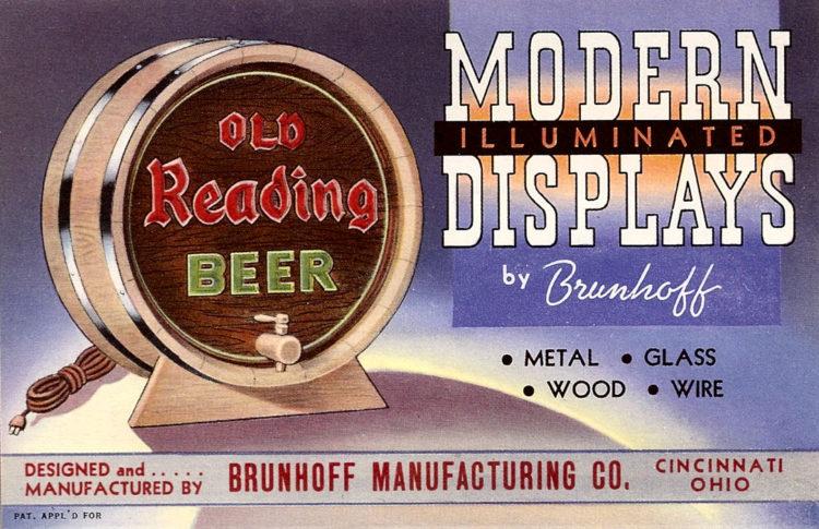 Old Reading Beer Barrel Lighted Sign