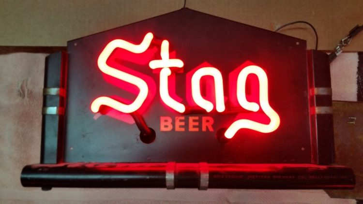 Griesedieck Brothers Stag Beer Neon Sign