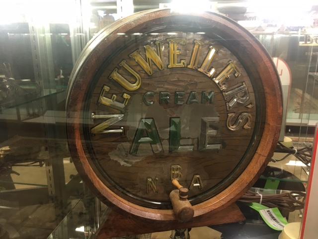 Neuweiler Beer Barrel Lighted Brunhoff SIgn